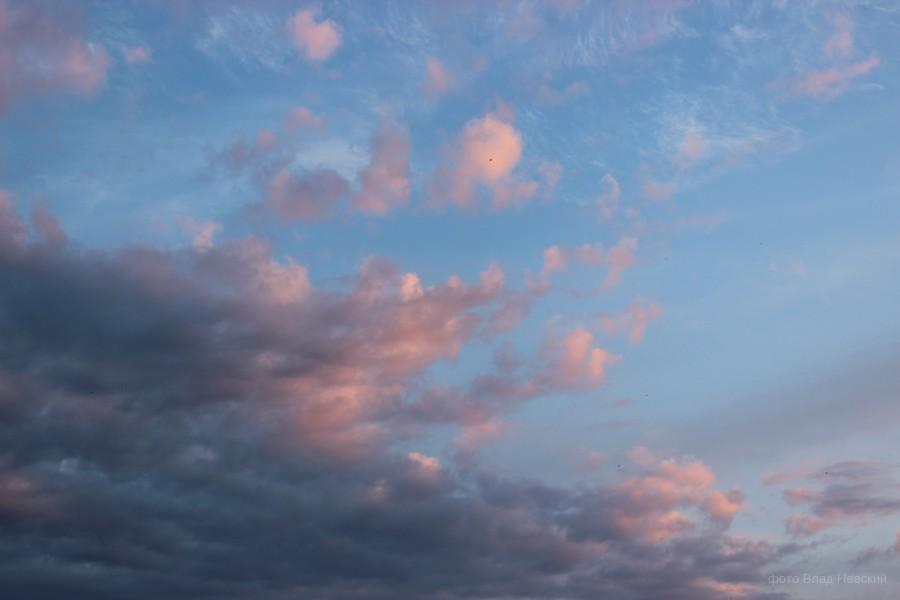 вечернее небо, на Днепре